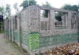 কুমিল্লায় প্লাস্টিকের বোতল দিয়ে বাড়ি নির্মাণ!