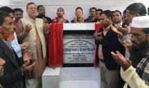 কমলগঞ্জে দুটি সড়কের উন্নয়ন কাজের ভিত্তিপ্রস্থর স্থাপন