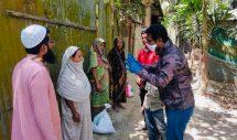 লকডাউন হওয়াতে শ্রীমঙ্গলের কালাপুরে খাদ্য সামগ্রী বিতরন