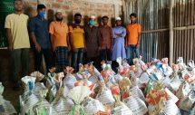 প্রবাসী বিএনপি নেতার অর্থায়নে শরীফপুরে খাদ্য সামগ্রী বিতরন