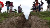 সুরমা নদীর বন্যা নিয়ন্ত্রণ বাঁধ কেটে দিল দুর্বৃত্তরা