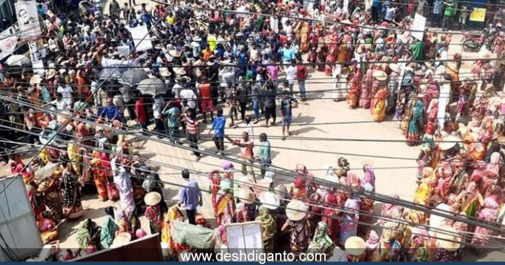 শ্রীমঙ্গলে চা শ্রমিকদের অবস্থান ধর্মঘট: প্রধানমন্ত্রী বরাবরে স্মারকলিপি প্রদান
