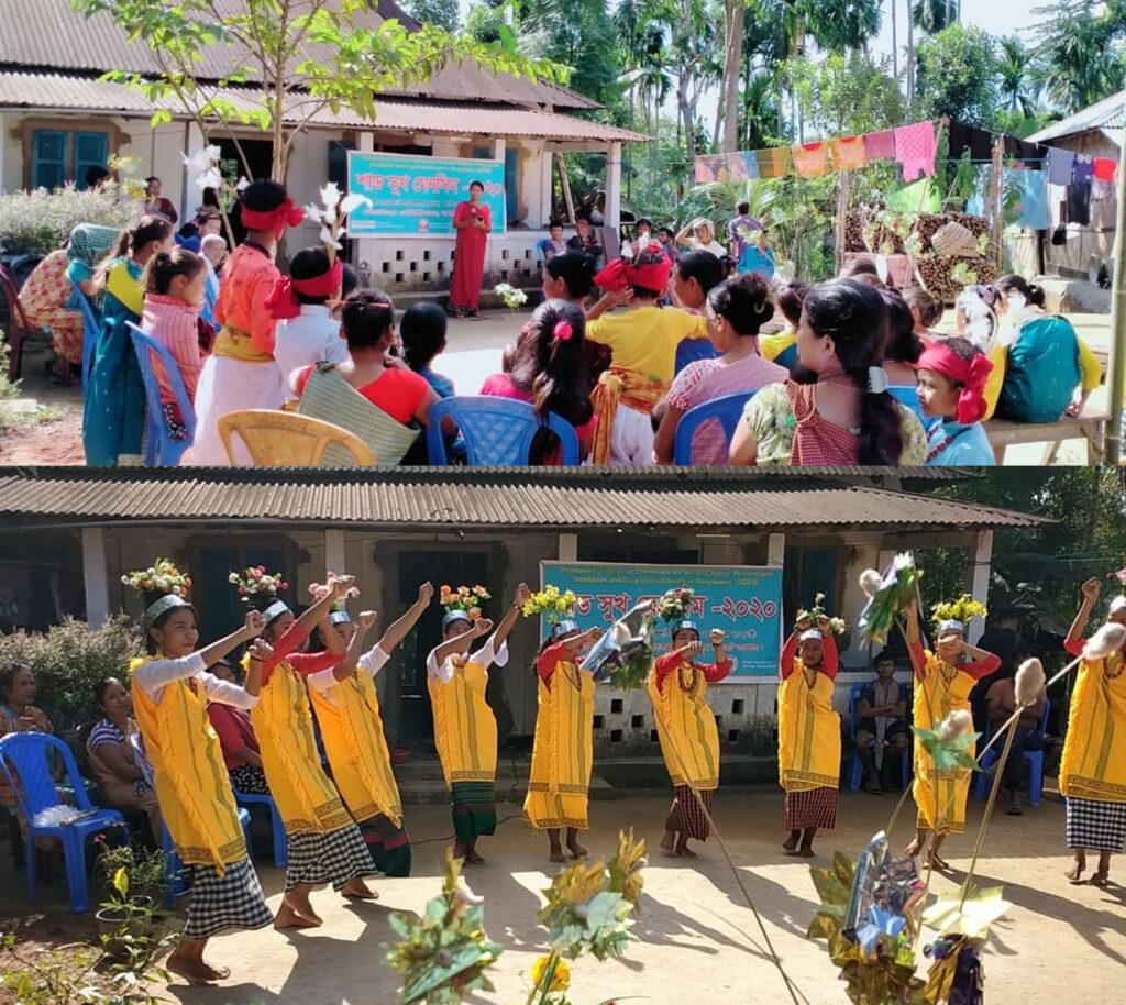 কর্মধার মেঘাটিলা পুঞ্জিতে শাড সুখ মেনসিম উৎসব উদযাপন